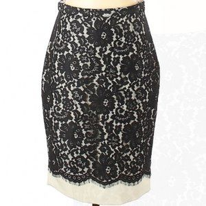 The Limited Black Lace Floral Pencil Skirt, Size 4